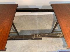 Harvey Probber Harvey Probber Rosewood and Mahogany Dining Table with Brass Accents - 1920318