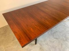Harvey Probber Harvey Probber Rosewood and Mahogany Dining Table with Brass Accents - 1920319
