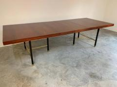 Harvey Probber Harvey Probber Rosewood and Mahogany Dining Table with Brass Accents - 1920320
