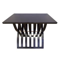Harvey Probber Harvey Probber Sculptural Side Table with Curved Slat Base 1960s - 1274138