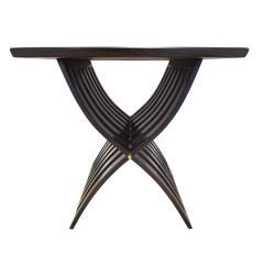 Harvey Probber Harvey Probber Sculptural Side Table with Curved Slat Base 1960s - 1274139