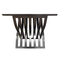 Harvey Probber Harvey Probber Sculptural Side Table with Curved Slat Base 1960s - 1274140