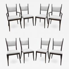 Harvey Probber Harvey Probber Set of 8 Sculptural Dining Chairs in Mahogany 1950s - 1275317