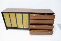 Harvey Probber Harvey Probber Signed Sideboard in Mahogany with Gold Trim 1960s - 1771715