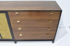 Harvey Probber Harvey Probber Signed Sideboard in Mahogany with Gold Trim 1960s - 1771716