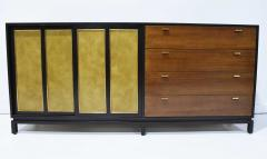 Harvey Probber Harvey Probber Signed Sideboard in Mahogany with Gold Trim 1960s - 1771718