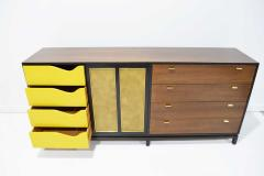 Harvey Probber Harvey Probber Signed Sideboard in Mahogany with Gold Trim 1960s - 1771720