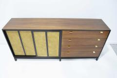Harvey Probber Harvey Probber Signed Sideboard in Mahogany with Gold Trim 1960s - 1771723