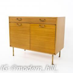 Harvey Probber Mid Century Mahogany and Brass Compact Credenza - 1868740