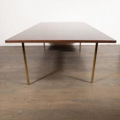 Harvey Probber Mid Century Modern 2 Drawer Cocktail Table in Walnut and Brass by Harvey Probber - 1507723