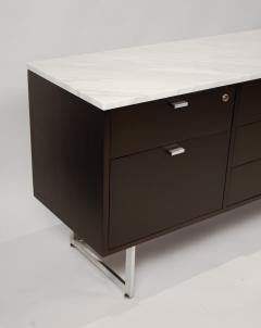 Harvey Probber Minimalist 1960s Harvey Probber Credenza with Calacatta Marble Top - 1119348