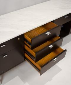 Harvey Probber Minimalist 1960s Harvey Probber Credenza with Calacatta Marble Top - 1119349