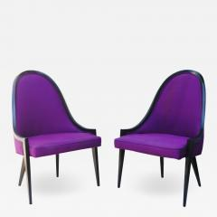 Harvey Probber Pair of Gondola Lounge Arm Side Chairs by Harvey Probber - 1753775