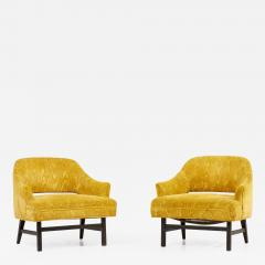 Harvey Probber Pair of Harvey Probber Lounge Chairs USA 1960s - 2119735