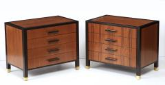 Harvey Probber Pair of Harvey Probber Nightstands End Cabinets in Walnut Ebonized Mahogany - 1062478