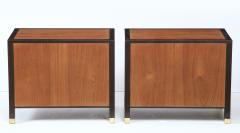 Harvey Probber Pair of Harvey Probber Nightstands End Cabinets in Walnut Ebonized Mahogany - 1062491
