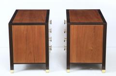 Harvey Probber Pair of Harvey Probber Nightstands End Cabinets in Walnut Ebonized Mahogany - 1062492