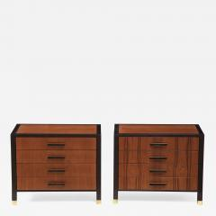 Harvey Probber Pair of Harvey Probber Nightstands End Cabinets in Walnut Ebonized Mahogany - 1063134