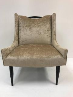 Harvey Probber Pair of Harvey Probber Slipper Chairs in Velvet - 428410