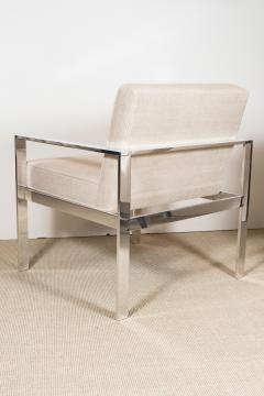 Harvey Probber Pair of Harvey Probber Solid Steel Chairs - 174116