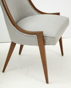 Harvey Probber Pair of Midcentury Harvey Prober Upholstered Slipper Chairs - 1524305