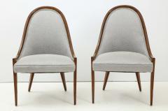 Harvey Probber Pair of Midcentury Harvey Prober Upholstered Slipper Chairs - 1524306