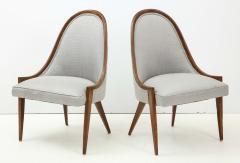 Harvey Probber Pair of Midcentury Harvey Prober Upholstered Slipper Chairs - 1524307