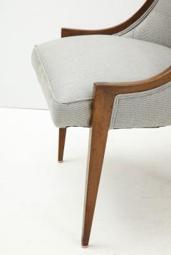 Harvey Probber Pair of Midcentury Harvey Prober Upholstered Slipper Chairs - 1524308