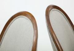 Harvey Probber Pair of Midcentury Harvey Prober Upholstered Slipper Chairs - 1524310