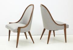 Harvey Probber Pair of Midcentury Harvey Prober Upholstered Slipper Chairs - 1524313