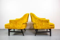 Harvey Probber Pair of Upholstered Lounge Chairs by Harvey Probber US 1960s - 1544964