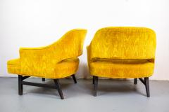 Harvey Probber Pair of Upholstered Lounge Chairs by Harvey Probber US 1960s - 1544965