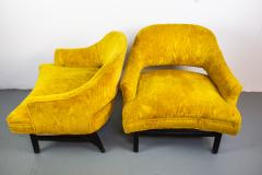 Harvey Probber Pair of Upholstered Lounge Chairs by Harvey Probber US 1960s - 1544966