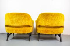 Harvey Probber Pair of Upholstered Lounge Chairs by Harvey Probber US 1960s - 1544967