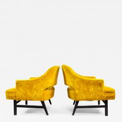Harvey Probber Pair of Upholstered Lounge Chairs by Harvey Probber US 1960s - 1545449