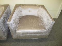 Harvey Probber Pristine Pair of Probber Style Cube Club Chairs Chrome Base Mid Century Modern - 1843539