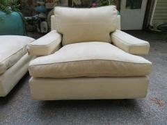 Harvey Probber Rare Pair of Harvey Probber Lounge Chairs and Ottoman Mid Century Modern - 1708497