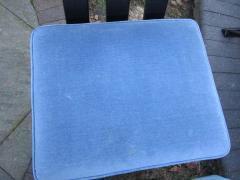 Harvey Probber Set of Six Harvey Probber Ebonized X Base Dining Chairs Mid Century Modern - 1262268