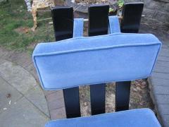 Harvey Probber Set of Six Harvey Probber Ebonized X Base Dining Chairs Mid Century Modern - 1262269