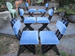 Harvey Probber Set of Six Harvey Probber Ebonized X Base Dining Chairs Mid Century Modern - 1262270