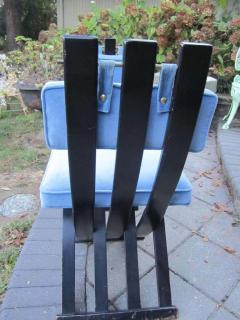 Harvey Probber Set of Six Harvey Probber Ebonized X Base Dining Chairs Mid Century Modern - 1262272