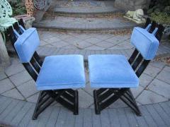 Harvey Probber Set of Six Harvey Probber Ebonized X Base Dining Chairs Mid Century Modern - 1262275