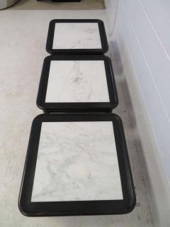 Harvey Probber Stunning Set of Three Harvey Probber Style Marble Side Tables Mid Century Modern - 1789854