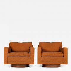 Harvey Probber Swivel Club Chairs Model 1461 by Harvey Probber - 1167675