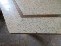 Harvey Probber Wonderful Harvey Probber Terrazzo Brass Inlay Top Mid Century Modern - 1262240