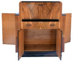 Heavily Figured Walnut 1930s Art Deco Bureau - 962067
