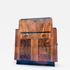 Heavily Figured Walnut 1930s Art Deco Bureau - 962423