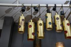 Height Brass and Colored Glass Lenses Small Lanterns - 729379
