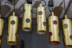 Height Brass and Colored Glass Lenses Small Lanterns - 729380