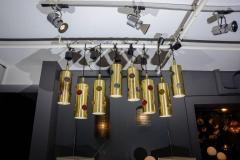 Height Brass and Colored Glass Lenses Small Lanterns - 729384